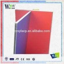 Wecan curtain wall panel designed pvdf aluminium composite panel acm