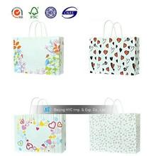 shopping bag, gift bag zipped mesh gift bags kraft paper pouch