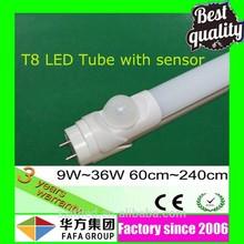 High quality best price t8 led sensor tube www red tube com