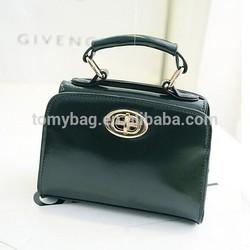 Dark green 2014 Fashion PU leather elegant style lady bags