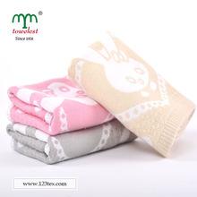 Hand Towel Jacquard Rabbit Dots Bamboo Fiber
