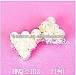 2014 crystal rhinestone alloy nail art decor,bling bling bowtie bowknot pearl nail menicure 3D