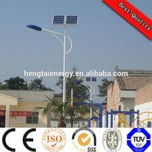 Hitech CE TUV best design 6 solar panels + double arms led solar street light