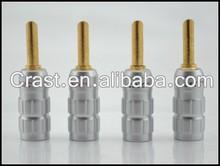 Audio Gade OEM CMC Banana Plug Audio Cable Connector male DIY Soldering adapter