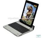 wireless bluetooth aluminium keyboard case for ipad 2/3/4 with power bank