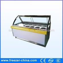 Italian gelato cooler/ice cream showcase/open freezer for ice cream