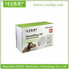 Hotselling EDUP 200Mbps wall Plug AV Mini Ethernet Bridge Powerline Adapter mini wifi bridge