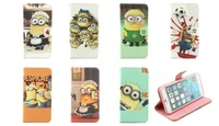 Despicable Me 2 Minions wallet leather Case COVER for Apple iPhone 6 Plus 5.5''