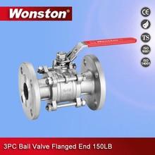 3 piece flanged ball valve