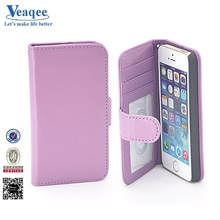Veaqee Wholesale book type hot leather case for iphone 5s