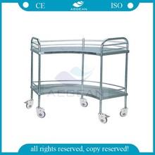 AG-SS007 Stainless steel Apparatus Cart,hospital cart,medical cart