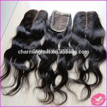 4*4 brazilian body wave lace top closure middle part closure virgin remy human hair closure piece
