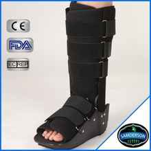 post-op rehabilitation walker and ankle brace with orthopedic shoes