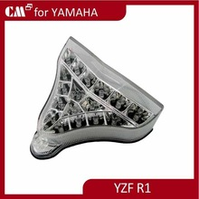 For Yamaha 2009 2010 R1 Nest Cell Style clear lens with signal motorcycle led tail lights
