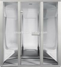 Top quality CE RoHS glass sliding door steam shower room