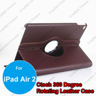 360 Degree Rotating Pu Leather Smart Case Cover Stand for iPad Air 2