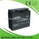 UPS battery 12V15AH Sealed Lead Acid Battery, AGM Storage Battery
