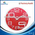 At81238 24 hora relógio analógico de vidro grosso relógios de parede com grandes números