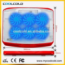 cheap 6fans with led light usb hub laptop cooler, laptop accessory for laptop fan