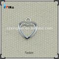 moda a forma di cuore medaglione sterlina ciondolo in argento per la biancheria intima