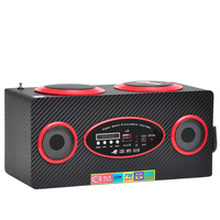 SU-208 2014, the latest mini-USB input wooden speaker with FM with display, a variety of colors