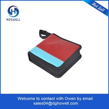 high quality portable CD DVD Case with 24 Capacity