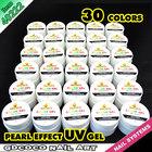 GDCOCO free sample nail art uv gel 30 colors uv color gel,40222h