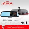 Auto specchio gps con bluetooth, lettore multimediale, 5 pollici touch screen 407/408 per peugeot