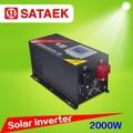 fuera de la red de onda sinusoidal pura potencia del inversor solar con pantalla lcd digital ups funtion 2000w 24v
