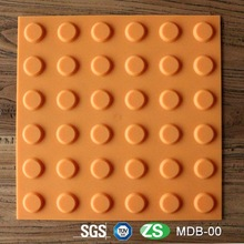TPU PVC Material Yellow and Grey Rubber Blind Tactile Paving Tile With 300 millimeter Side Length