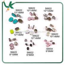 New Colour Finish Round Shape Sew On Acrylic Stone