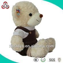 2015 Cute Soft Wholesale Stuffed Funny plush white bear with heart