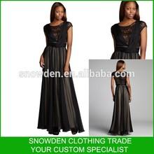 New Design Floor Length Beaded Evening Dresses Short Sleeve