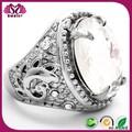venta al por mayor el diseño del cliente de piedras preciosas de plata anillo de boda