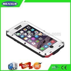 Dirtproof Waterproof Shockproof Love Mei Metal Aluminum Case For Iphone + Gorilla Glass