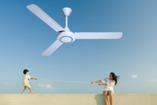 "48"" 56"" guangzhou with brushless 100% pure copper quiet dc MOTOR 12V Ceiling Fan"