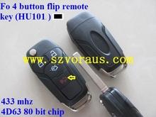 high quality Ford key 4 button remote flip key (433mhz /4D63 80 bit chip)
