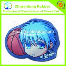 Wonderful design cheap custom rubber football boy mouse pad