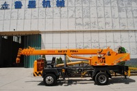 trailer crane with self-propelled chassis 5 ton loading