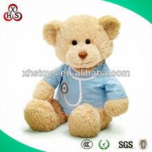 2015 Cute Soft Stuffed Funny Customed plush toys bear with heart