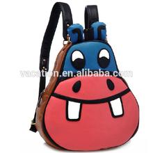 3d cartoon canvas satchel backpack bag
