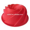 grau alimentício bpa livre forma espiral grande molde de silicone