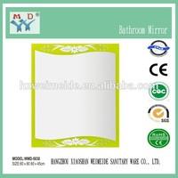 silver decorative mirror rococo