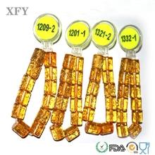 Laser Logo ICODE2 rfid fabric bracelets for park membership beads shape