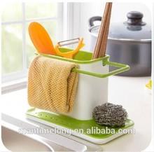 3 in 1multifunction glove storage debris rack dishclout storage rack kitchen stands utensils