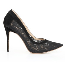 stiletto brand women shoes alibaba oem shoes 2014 ladies wholesale china high heel shoe with lace upper