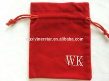 Custom Christmas gift bag/velvet pouch/velvet pouches wholesale