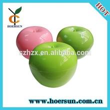 colorful reusable cute christmas fruit shape plastic container