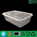 microondas e congelador pp recipiente de plástico transparente caixa de embalagem de alimentos 650ml