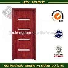 modern design glazed front door wooden